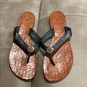 Tory Burch black sandals.